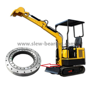 Excavator EX200 Internal Gear Heat Treatment Slewing Ring Bearing