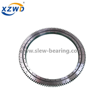 Light slewing ring bearing with external gear for robot