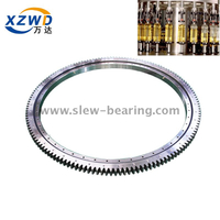 Large diameter high precision turntable external gear extra lightweight slewing ring bearing