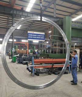 High Quality Three Row Roller External Gear Large Slewing Bearing For Port Crane