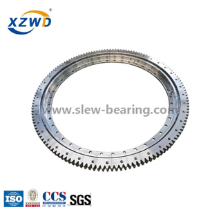 Light slewing bearing for filling machine line