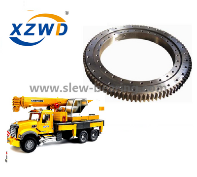 China Wanda 4 point contact ball Slewing Ring turntable bearing with External Gear for Truck Mounted Crane