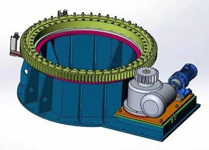 how a slewing ring bearing working