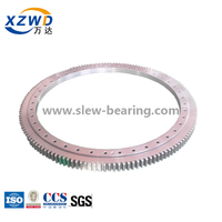 Small Diameter Four-point Contact Ball Geared Slewing Ring Turntable with Deformable Rings