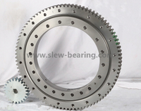 China Wanda Single Row Four Point Contact Ball Slewing Ring Bearing with Pinion High Rotate Turntable Bearing